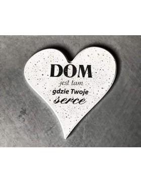 Serce z nadrukiem ,,Dom...