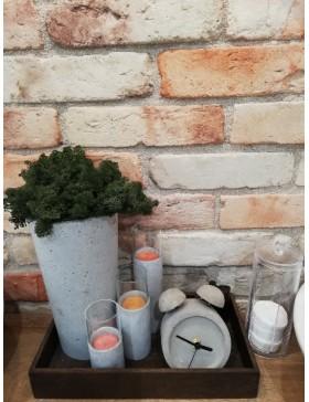 Concrete vase with moss...